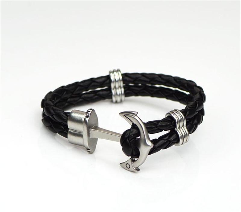neu anker leder armband unisex hope anchor stylisch style. Black Bedroom Furniture Sets. Home Design Ideas