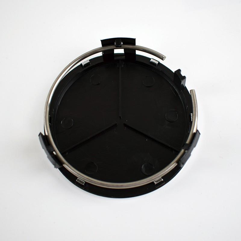 neu 2 mercedes nabendeckel nabenkappen schwarz amg. Black Bedroom Furniture Sets. Home Design Ideas